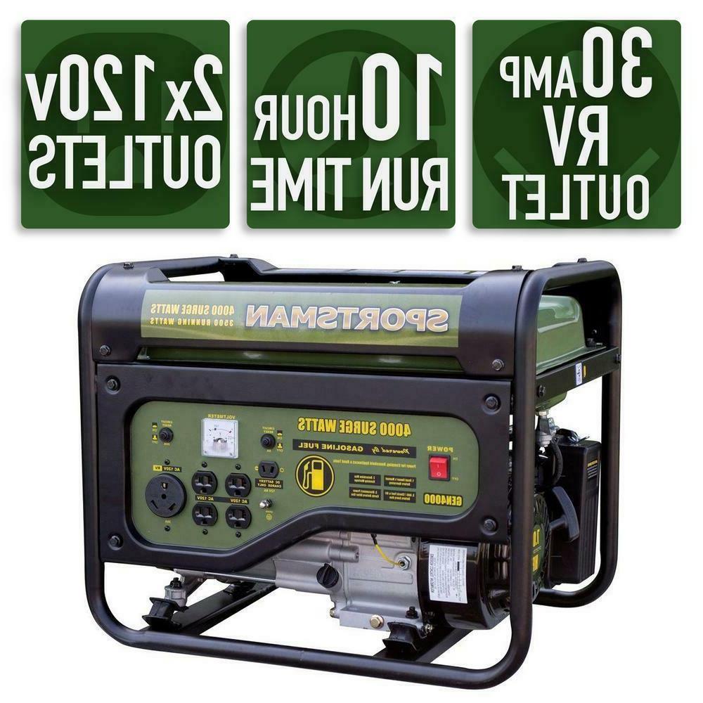 4000 watt portable rv ready gas powered
