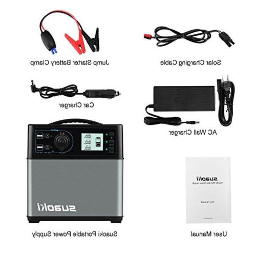 SUAOKI Power Supply with Quiet 300W Inverter, Outputs Outdoors Camping Trips