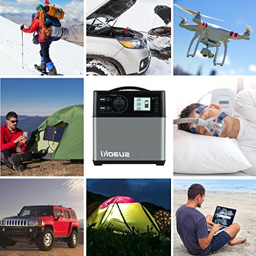 Power with 300W DC/AC Inverter, DC/AC/USB Outputs Travel Fishing Trips