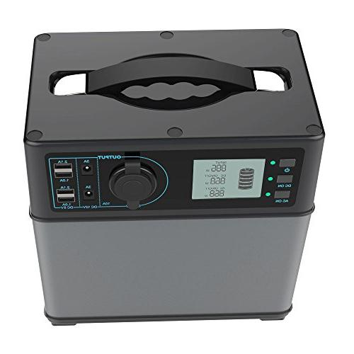 ACOPOWER 400Wh Portable Solar Generator Supply Lithium by Solar/AC Outlet/Cars 300W AC Inverter