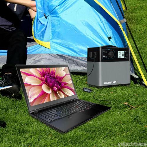 400Wh Portable Solar Generator Outlet 4 USB Jump Starter US
