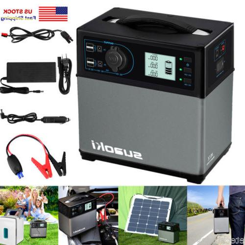 400wh portable solar power generator supply outlet
