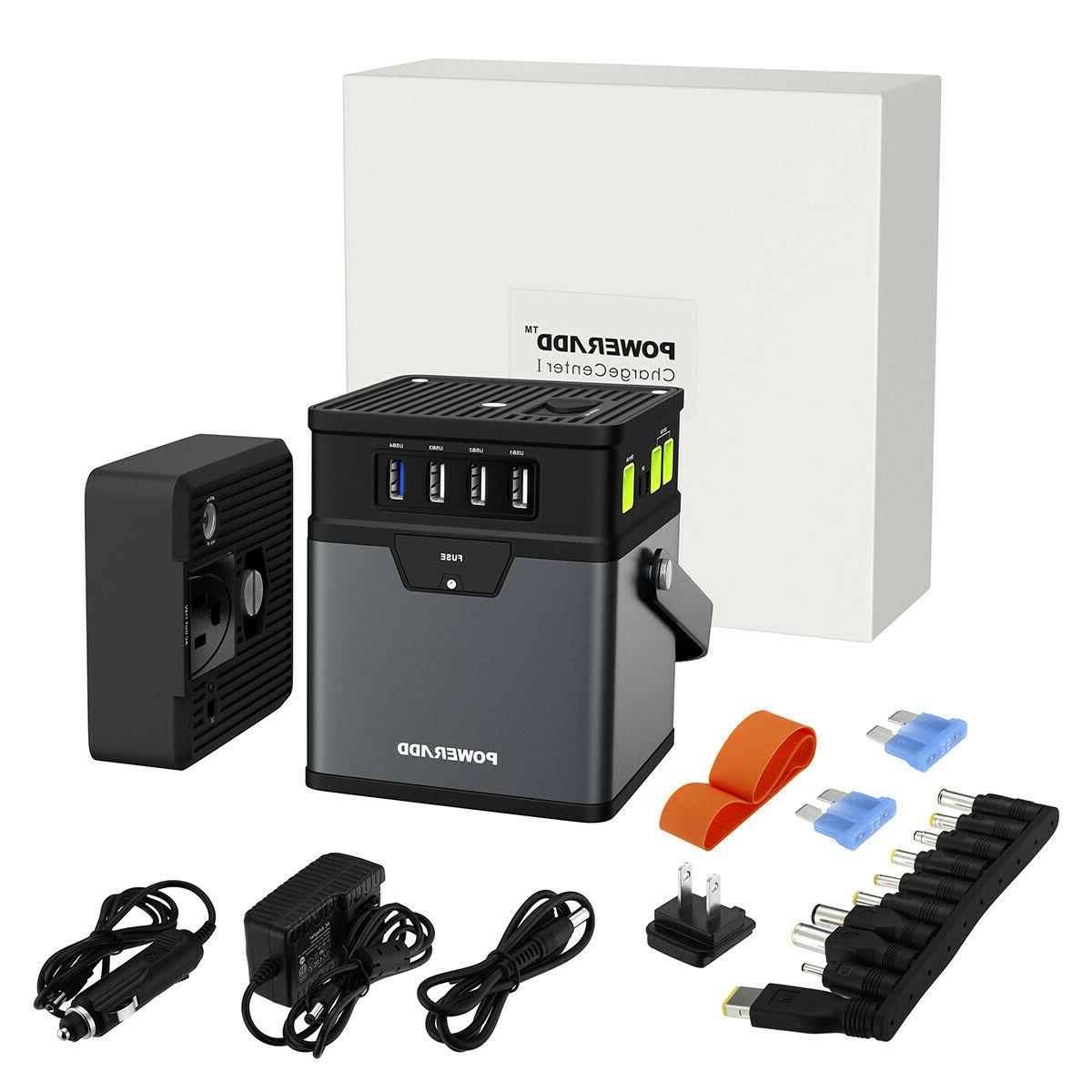 Poweradd 50000mAh Portable AC Inverter Bank DC