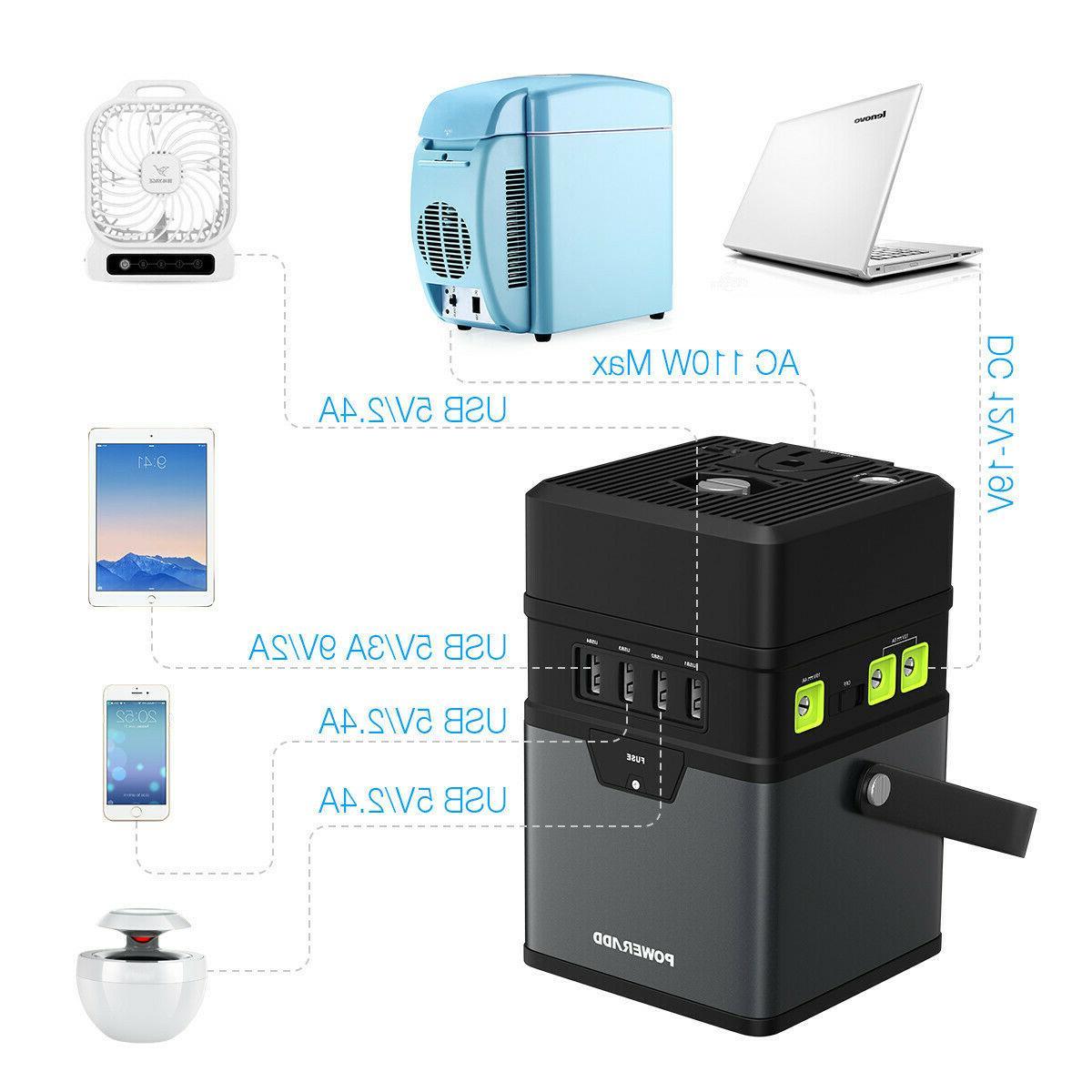 50000mAh Portable Generator Power Inverter AC USA
