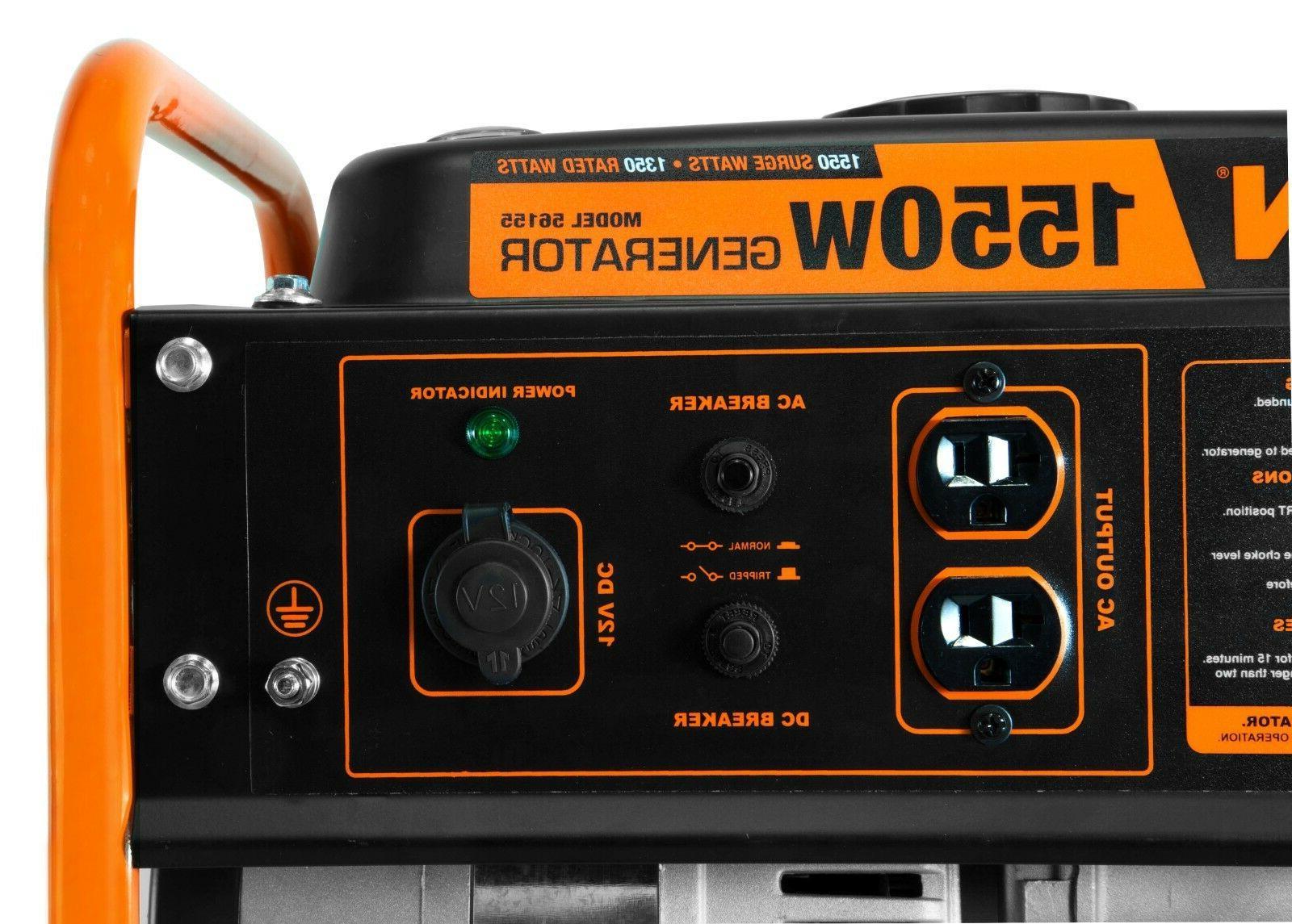 WEN 56155 98cc 1550-Watt Portable Power Generator, CARB Compliant