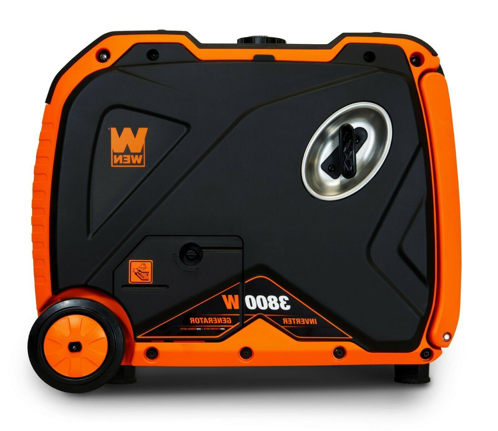 WEN 56380i Quiet 3800-Watt Inverter Generator with Shut-Off