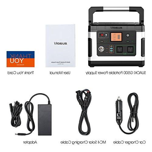 SUAOKI Camping Generator Lithium Pack 110V/300W Sine AC Emergency Outdoor