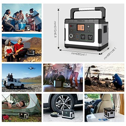 SUAOKI Solar Camping Generator Lithium Pack Power Supply with 110V/300W AC Inverter Emergency Outdoor