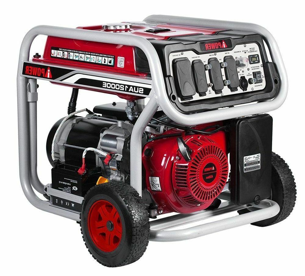 A-iPower 12000-Watt Gasoline Electric Start Generator GFCI Outlets