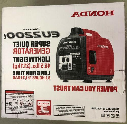 eu2200i 2200 watt super quiet gas powered