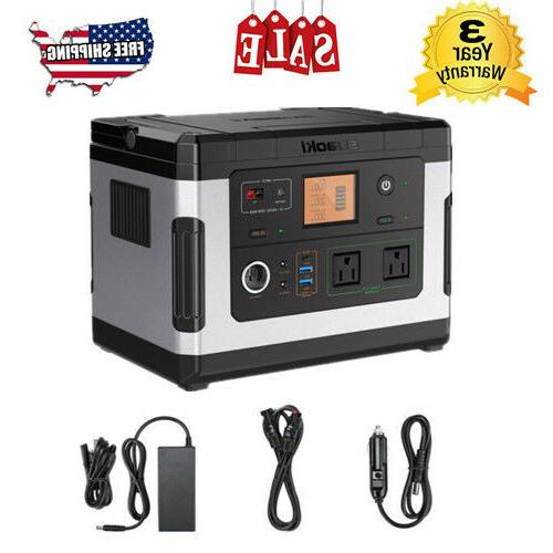 g500 portable solar generator power station rechargeable