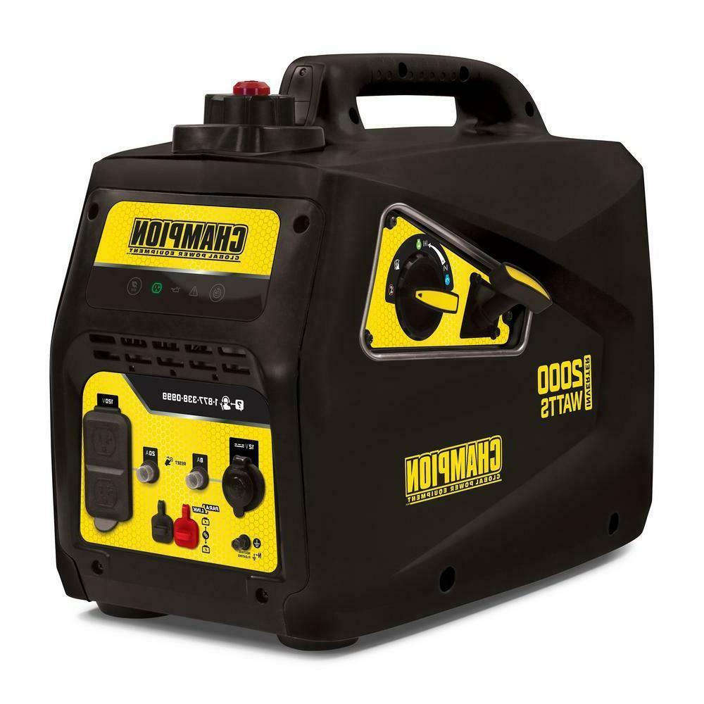 generator 2000w portable inverter recoil start gasoline