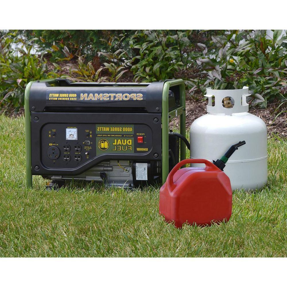 generator 4 000 watt dual fuel powered