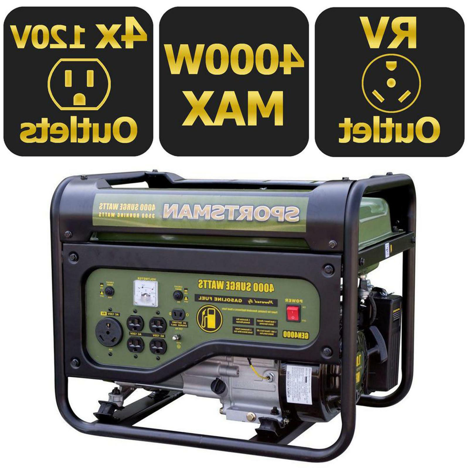 generator 4000w gas propane camping portable 4