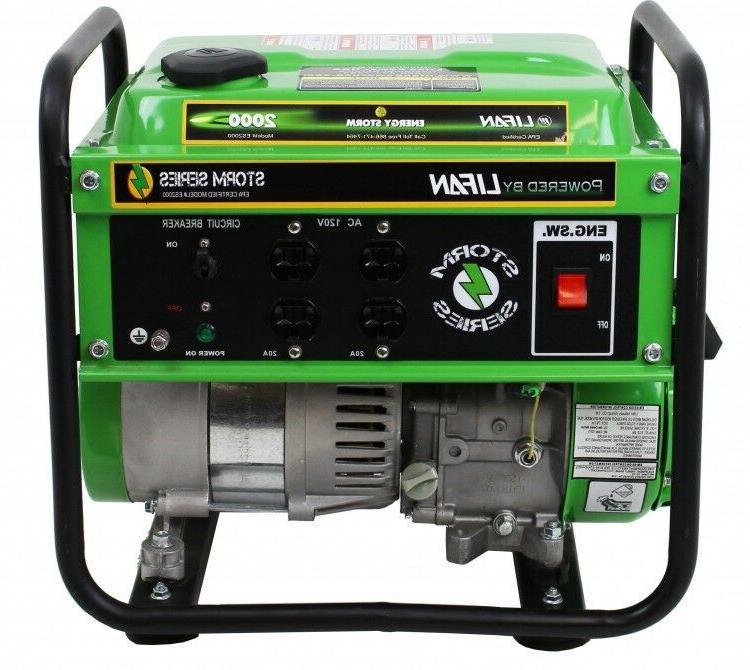 Generator Portable Emergency Power Storm Damage Gas Tank RV