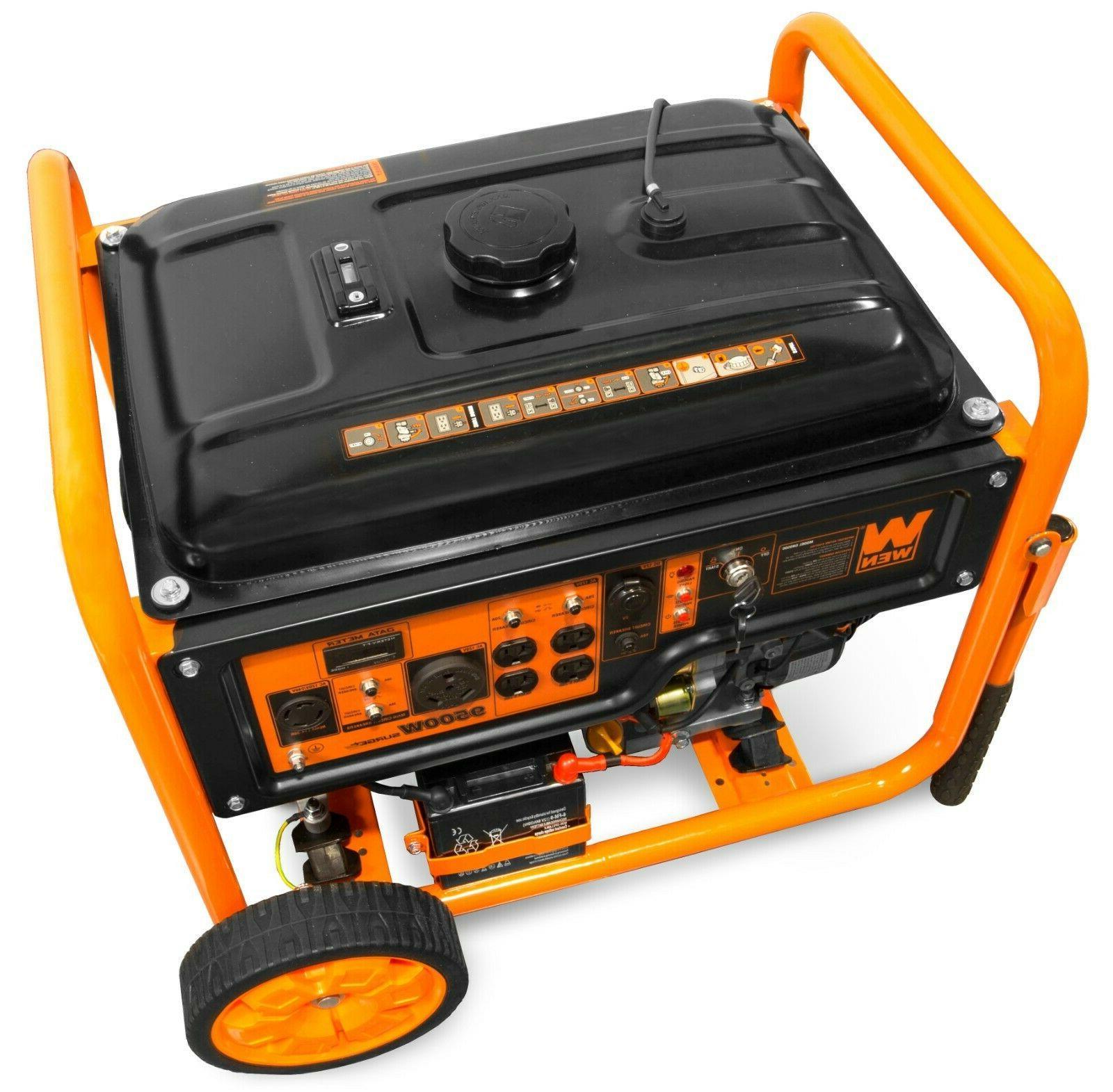WEN GN9500 Transfer Ready 120V/240V Portable Generator