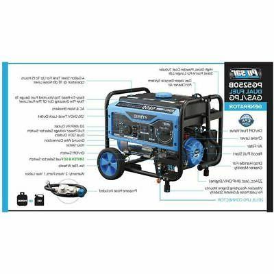 Pulsar 5250W Hybrid Gas Propane Generator PG5250B