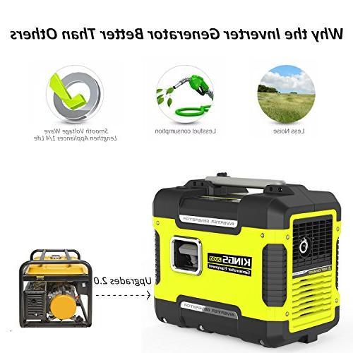 Inverter Generator Portable W,Ultra Quiet Generator Station With DC,120 AC,Gas Generator Inverter