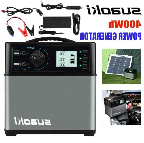 new 400wh jump starter cars solar power