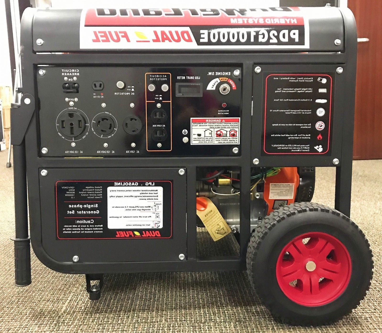 pd2g10000e 10kw 16hp dual fuel gas lpg