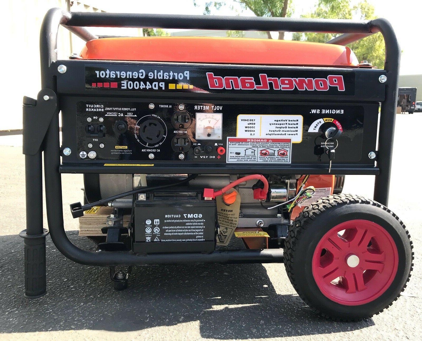 pd4400e portable 4400 watt 7 5hp gas