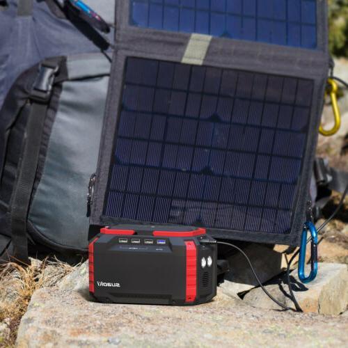 Suaoki Portable 150Wh Solar Station Supply Energy