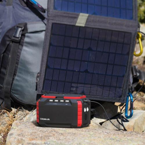 Suaoki Portable 3 150Wh Solar Power Station Energy Storage