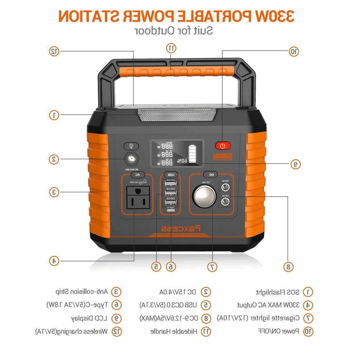 Portable Camping Generator, Portable Power Station, CPAP Battery P