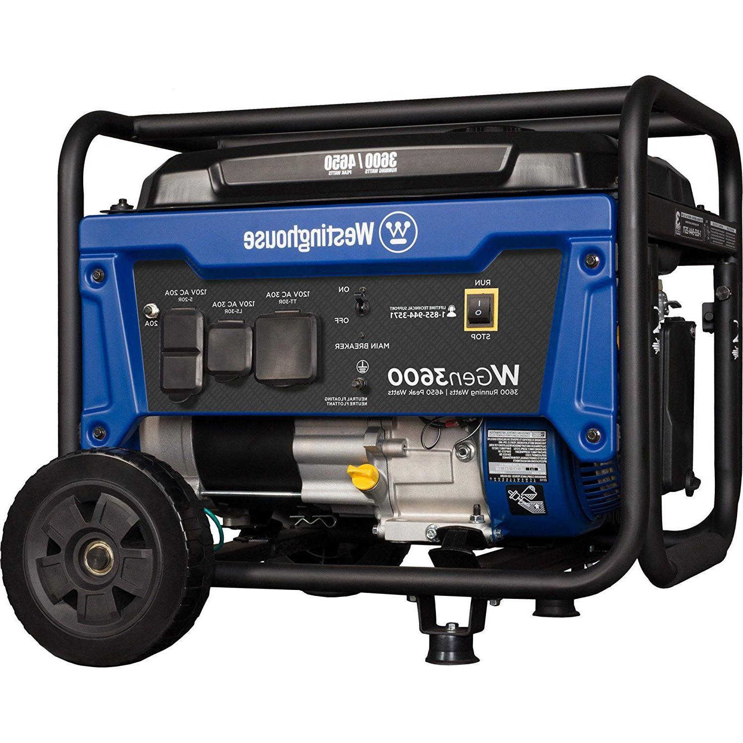 portable gas generator wgen3600 3600 rated watts