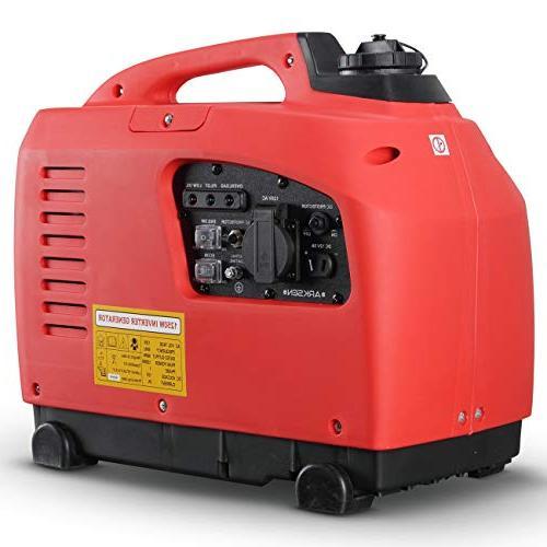 ARKSEN Quiet Generator Outdoor Gasoline Red
