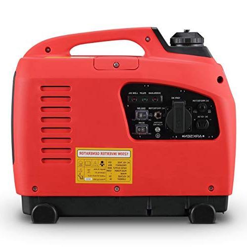 ARKSEN 1250W Portable Gas-Powered Quiet Red