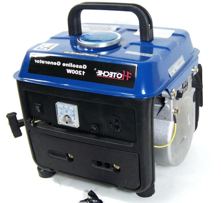 PORTABLE ELECTRIC POWER GENERATOR 1200W OUTPUT 120V/60HZ AC