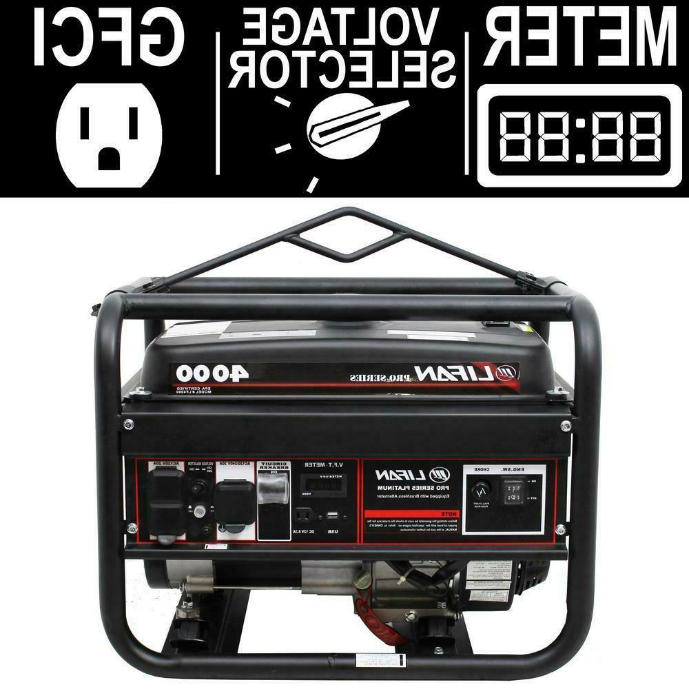 portable gasoline generator 4000 watt emergency power