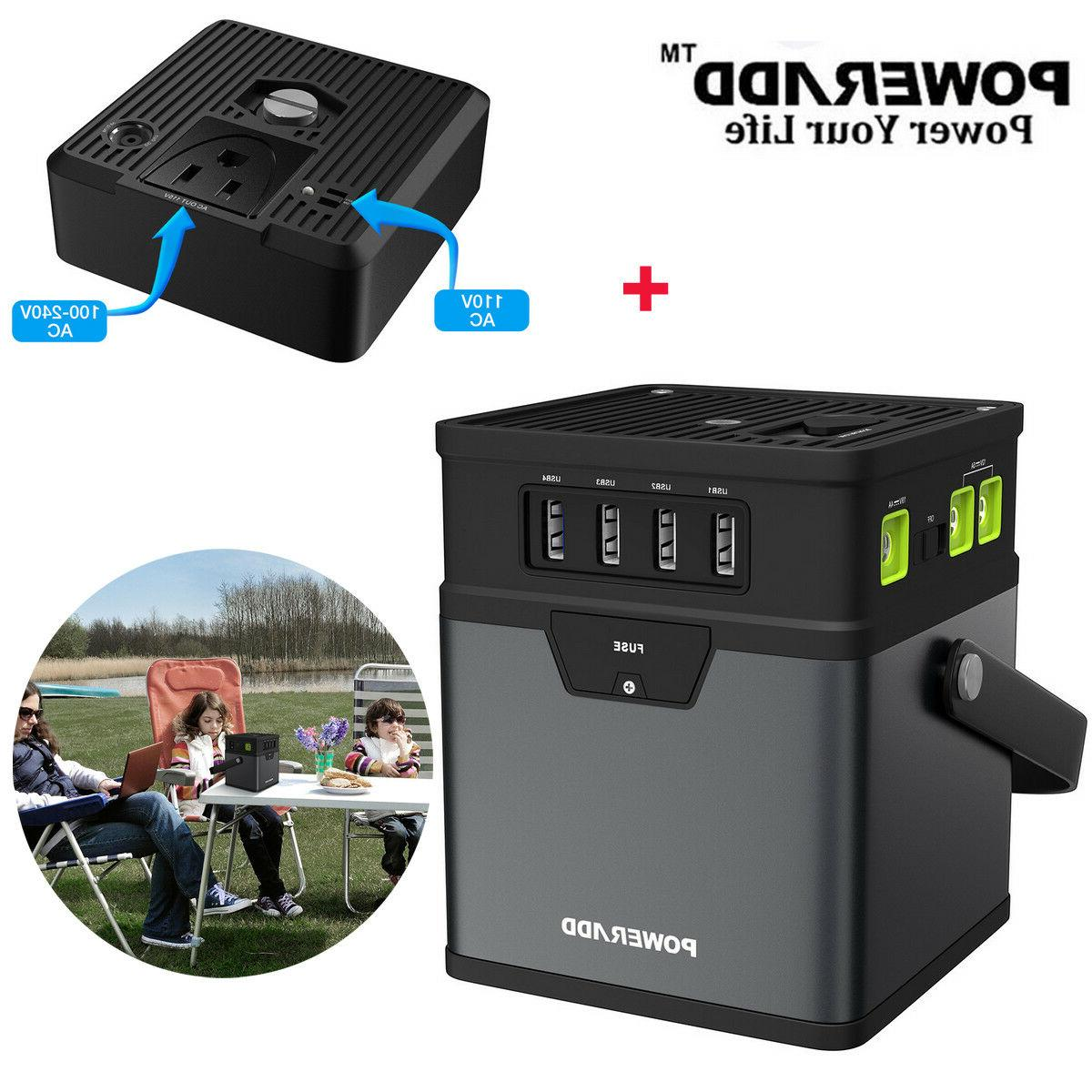 Poweradd 50000mAh Portable Generator DC/AC Power Inverter wi