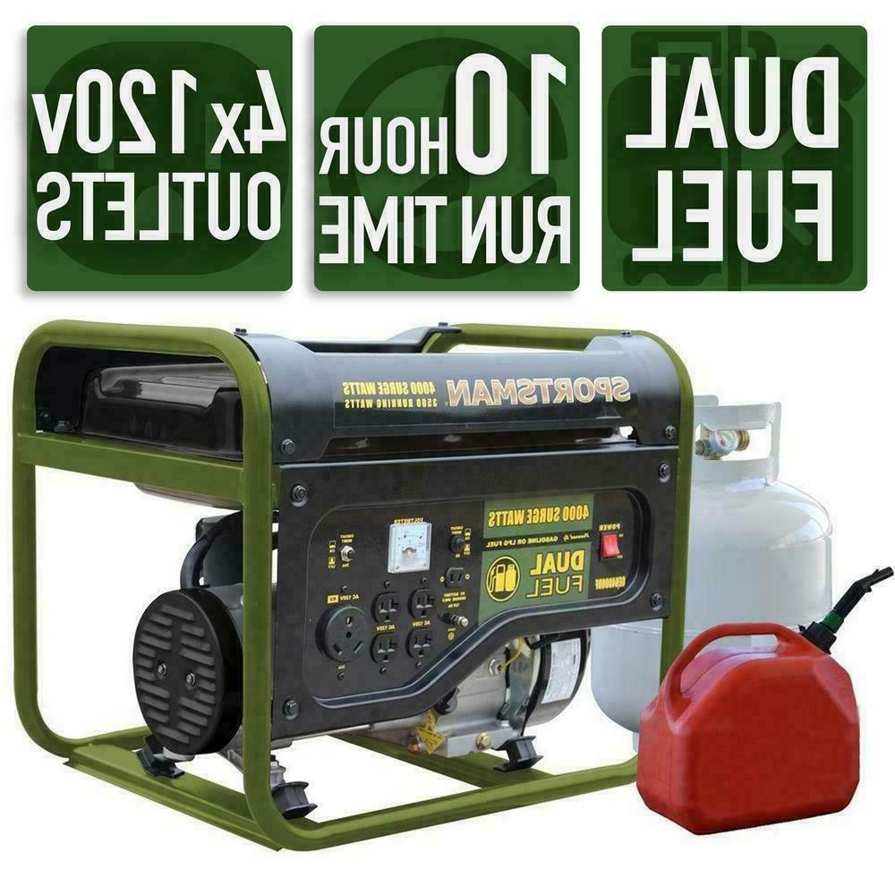 4000 w portable dual fuel gas powered