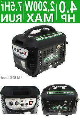 portable generator gasoline powered energy storm 2200