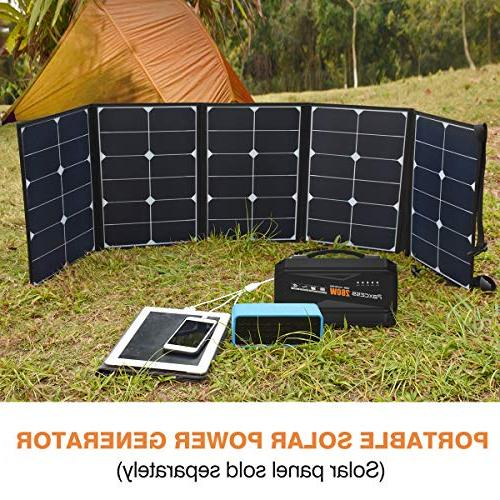 Generator Lithium Power Staion, Battery Camping Supply with AC Outlet,3 Port CPAP/Camping/Emergency