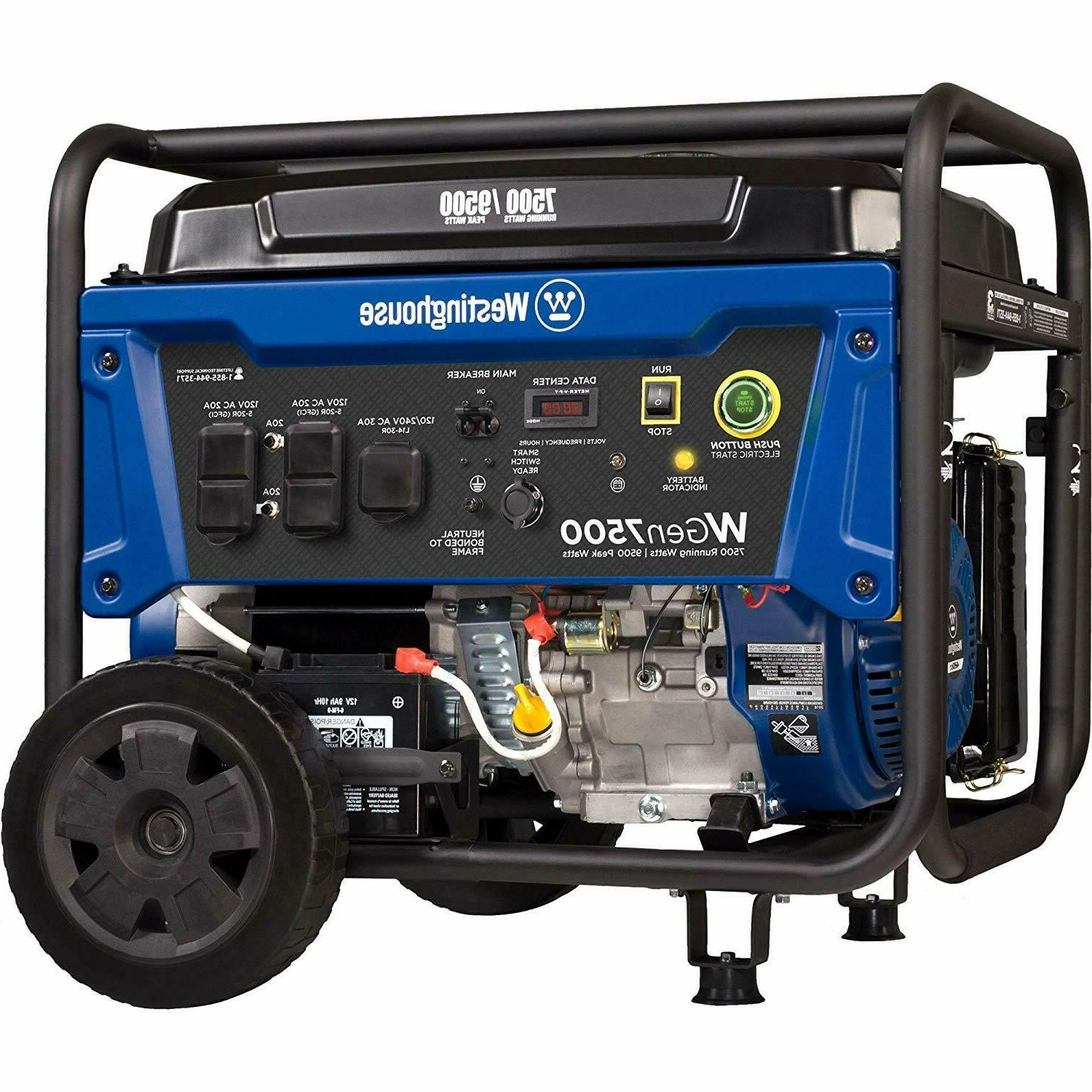 portable generator with remote electric start 7500