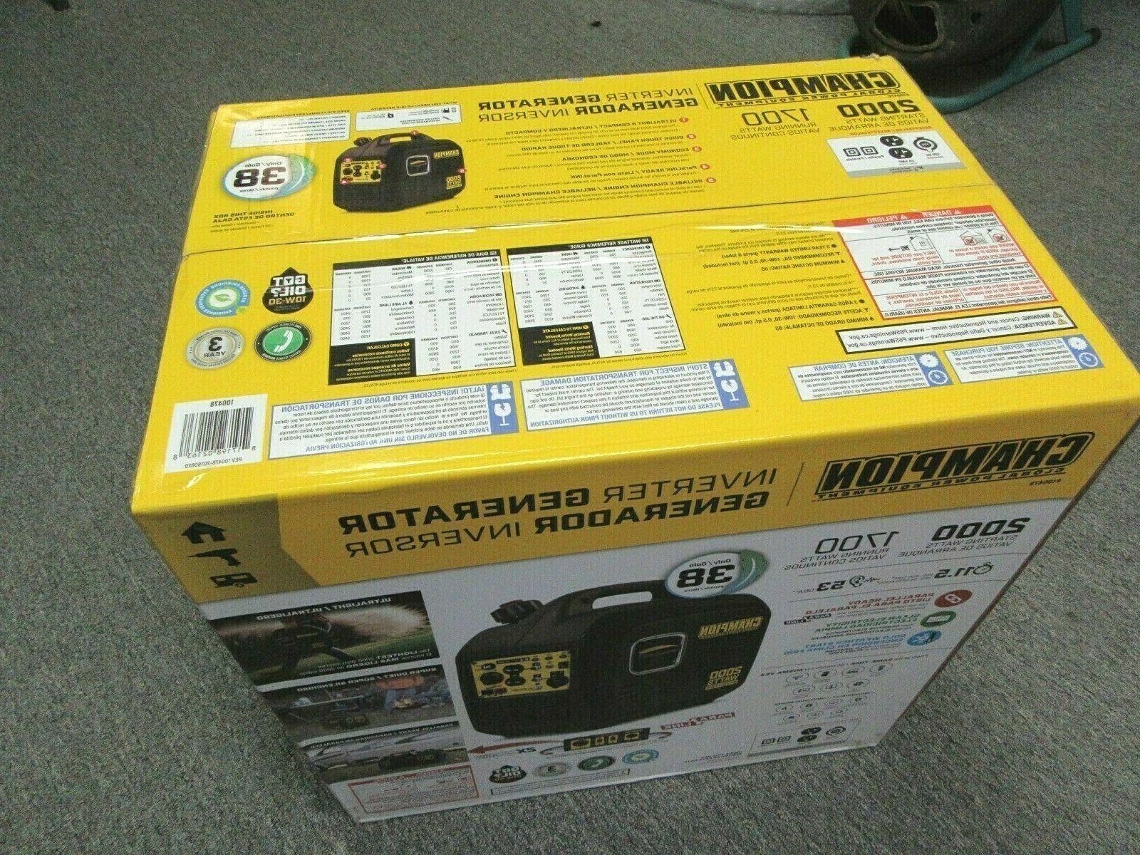 Champion Equipment Portable Inverter Generator