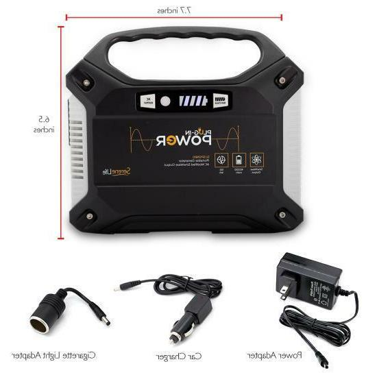 Portable Power Generator - Rechargeable Pack Power Supply