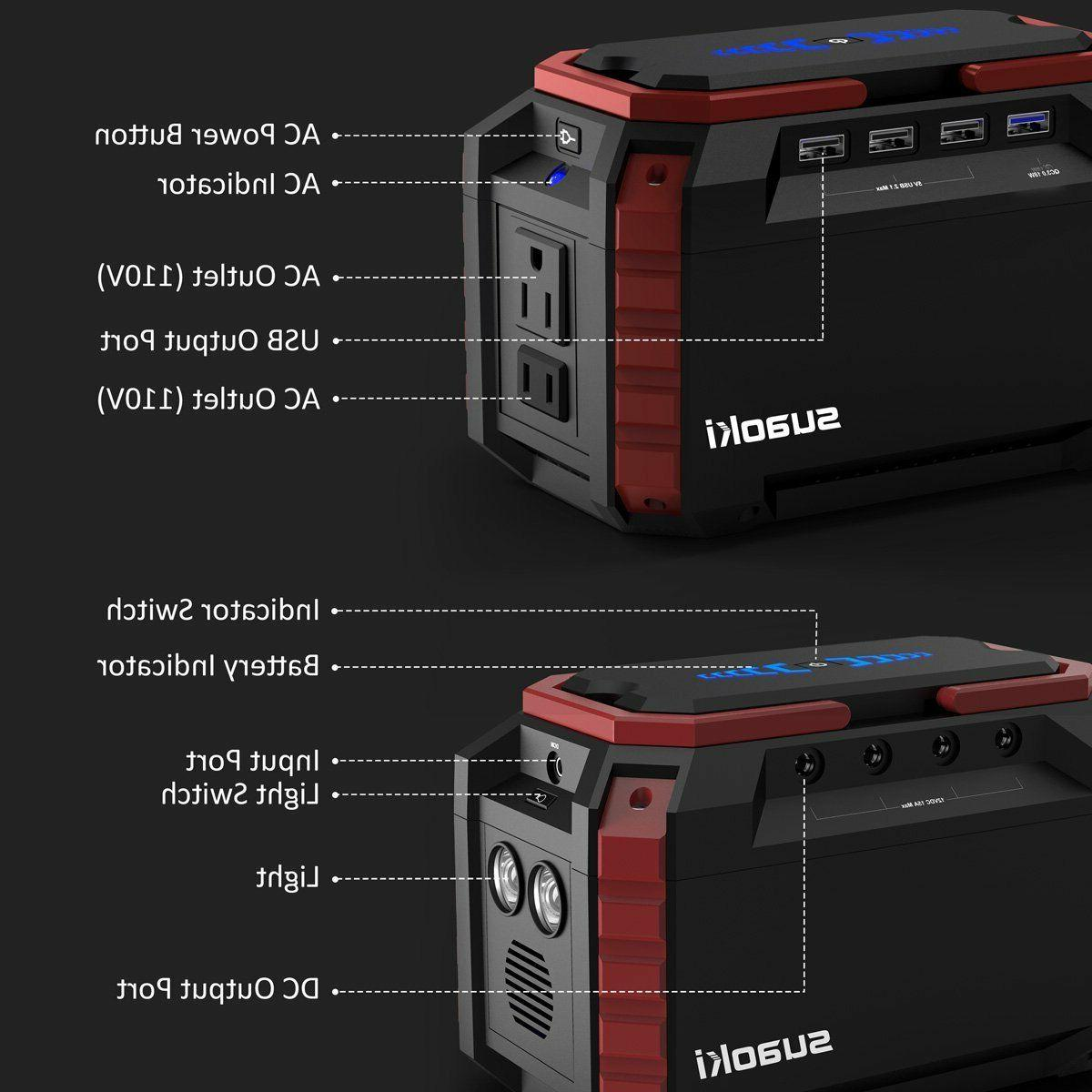 Portable Station Quiet Gas Generator AC
