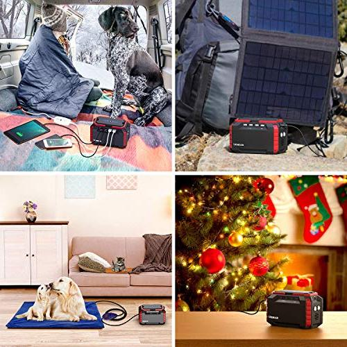 SUAOKI Portable Station, 150Wh/100W Camping Power with Dual 110V DC 4 USB Ports, for Road Emergency