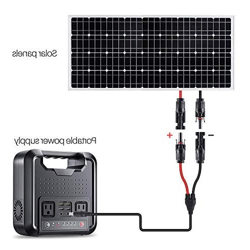 Power Generator, Rechargeable Source Dual 110V AC Dual Ports, 4 USB Ports Outdoor Using, Emergency