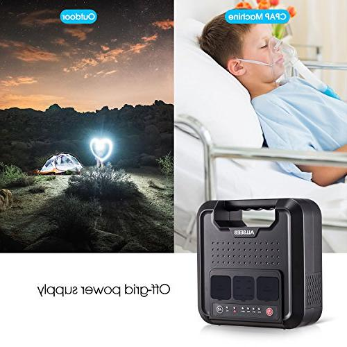 Power Station –300W|220Wh Generator, Multifarious Power Source Dual 110V AC Dual DC USB for Using, CPAP or Backup