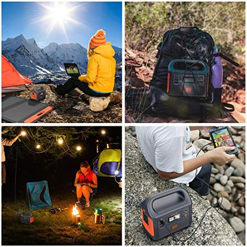 Jackery Portable Generator Explorer Solar Backup Power Supply 110V/100W AC for Outdoors Emergency