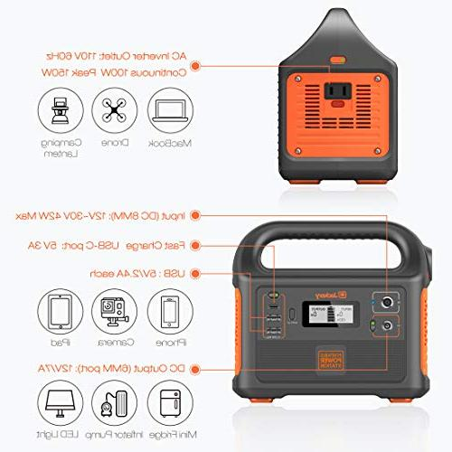 Jackery Power Station Generator Explorer 167Wh Solar Generator Backup 110V/100W for Emergency