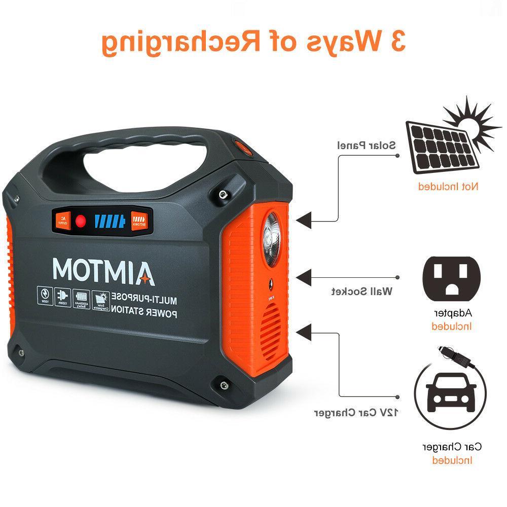 Portable Solar 42000mAh Power 12V CPAP Battery
