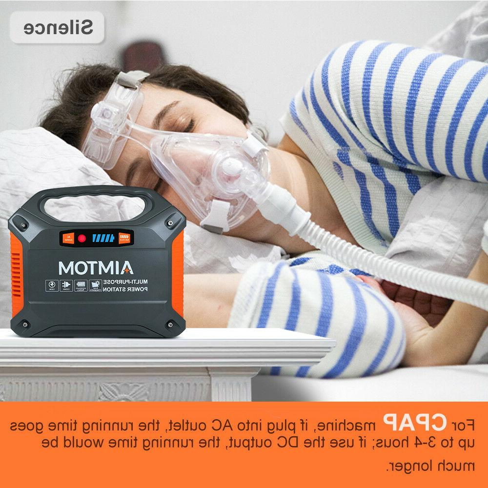 Portable Solar 42000mAh 110VAC 12V CPAP Battery