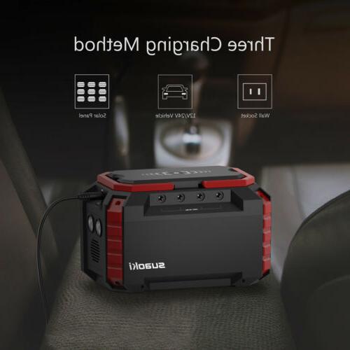 Portable Suaoki Power Inverter Generator Supply Energy Storage USB