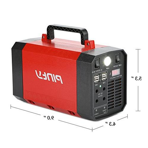 Pinty Portable Uninterrupted Supply 500W, UPS Backup, Source AC Inverter, USB, for Outdoors